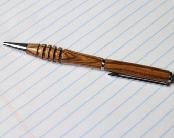 Solid Zebrawood Ballpoint Pen