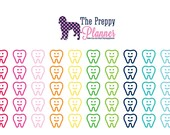 Dentist Planner Stickers for Filofax Kikki Erin Condren ECLP #026