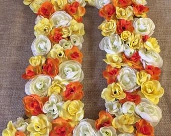 Floral Accent Letters- Large/Small-3 colors