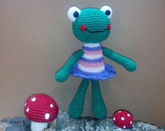 Rana de crochet-Frog-crochet-crochet frog Grenouille