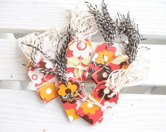 Handmade Tags, Repurposed from Greeting Cards, Set of 10