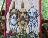 Miniature Dog Quilt, Dog Lovers Gift, Home Decor, Shelf Art, Dog Art Quilt, 5 x 7