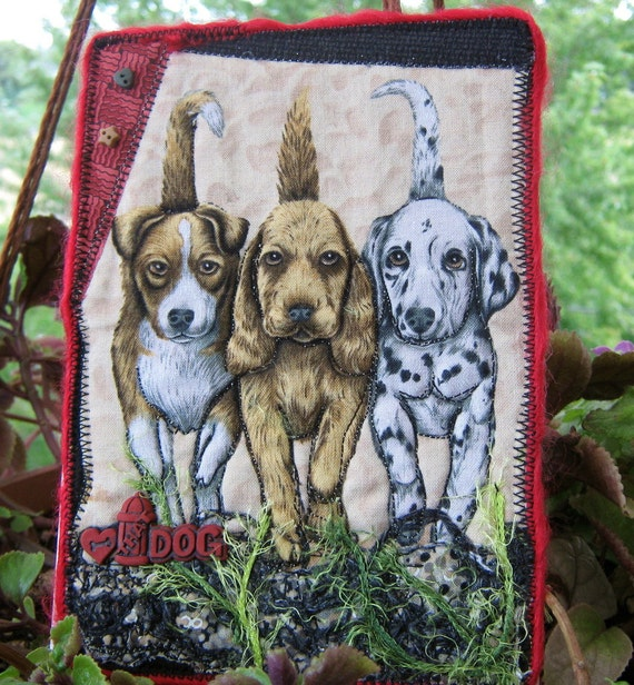 Items similar to miniature dog quilt dog lovers gift for Dog related home decor