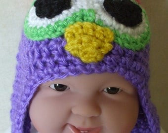 Owl baby hat