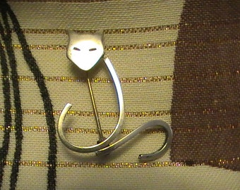 Sterling Kittie Pin From the 60's