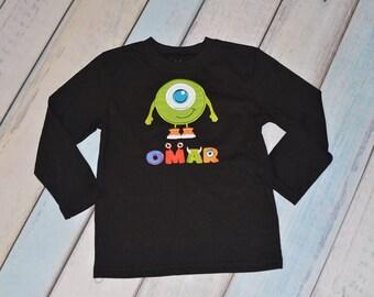 Monsters Shirt Mike Boys or Girls Halloween Custom Shirt