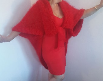 "Knitted mohair Bolero ""Passion"""