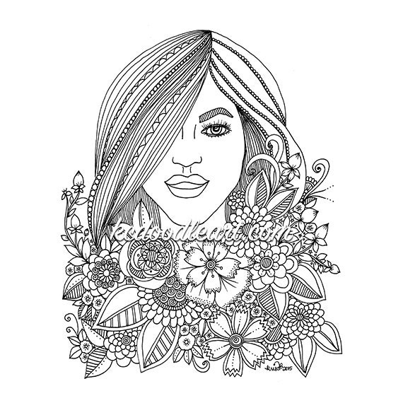 Instant Digital Download Coloring Pages For Adults And Teens