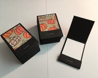 20 Matchbook Notepads Matchbook Favors - Fall Pumpkins, Handmade