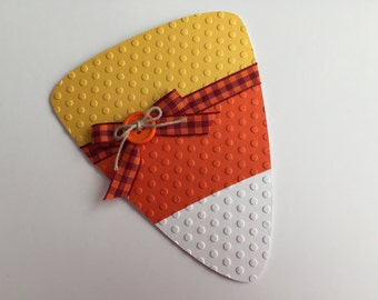 Handmade Halloween Candy Corn Card
