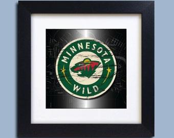 Minnesota Wild Hockey Map Art Print