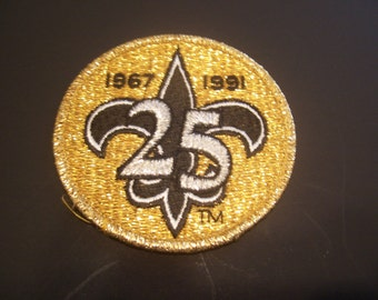 New Orleans Saints 25TH Anniversary Patch