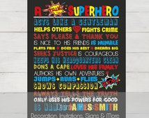 A true superhero,  Superhero Rules, Superhero Room Decor, superhero clipart, Boys Room Decor, superhero wall art, superhero poster, party