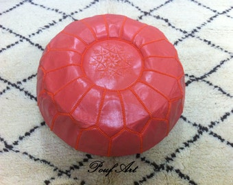 Moroccan pouf ,pouffes,Leather Handmade Moroccan Pouf, Ottoman Cover,Hassock,Pouffe,pouffes