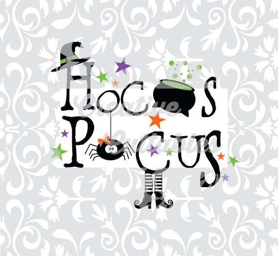 Halloween SVG witch Hocus Pocus for Silhouette or other
