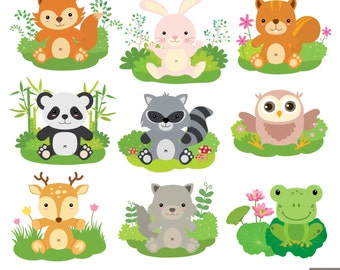 Baby Woodland Animals Digital Clipart