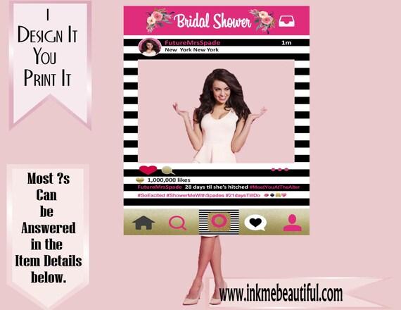 PRINTABLE Photo frame Prop Photo Booth Wedding Birthday Pop