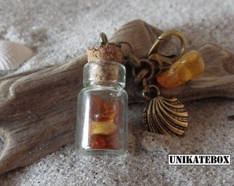 Change pendants amber charm small bottle