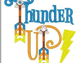 Thunder Up! 4x4 embroidery design