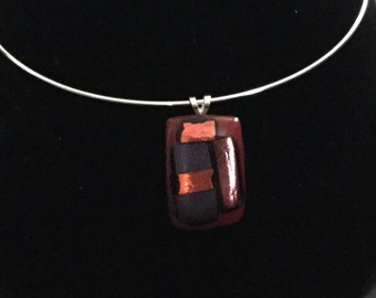 Red fused glass pendant