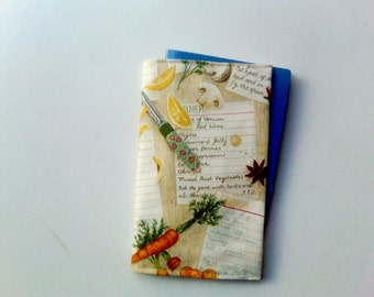 """my recipes: journal and its cotton cover """"recipes"""""""