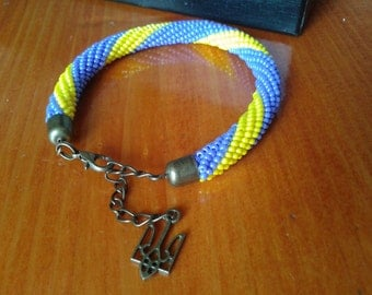 Bracelet '' yellowish blue '