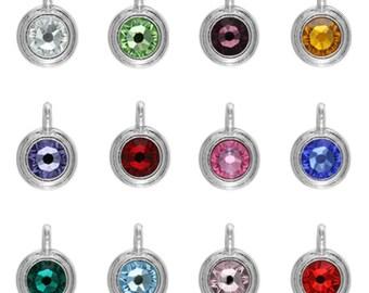 TierraCast, Birthstone Charm, Set of 12, Swarovski Crystal, Crystal Charm, Pewter Charm, Crystal Birthstone, TierraCast Birthstone