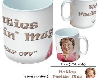 Custom Mrs Brown's Boys3 picture mugs cup as a special personalised gift for Christmas and for all occasions
