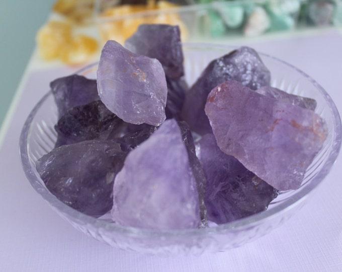 Bulk Crystals / 10 Raw Amethyst Crystals RAW Chunks