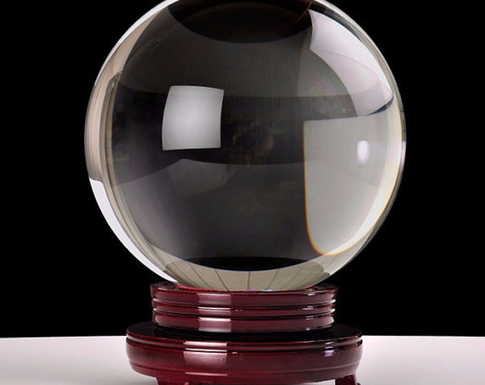 Crystal Ball, 150mm Gazing Sphere, Scrying Divining Tool Wicca Magical