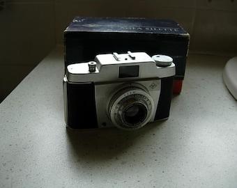 vntage agfa silette camera in orignal box