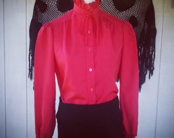 Vintage Clothing - Vintage Top - Retro Fashion - Blouse