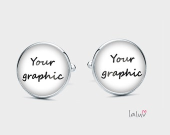 Cufflinks WITH YOUR GRAPHIC