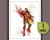 Superhero poster, Ironman print, Iron Man poster, Ironman painting, Avengers Ironman print, Avengers poster, Kids Decor, Nursery Decor, 3501