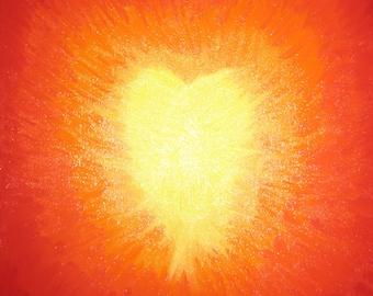 Golden Heart (Heart on Fire!) Photo Print