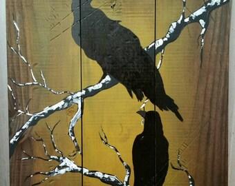 Black Birds on branch