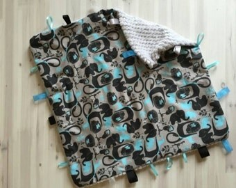 Baby Boy Security  Blanket (Free Shipping)