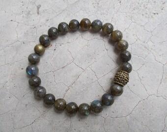 8mm  Labradorite beads ,Bohemian bracelet, Yoga Bracelet ,Yoga Jewelry ,Hippie Bracelet, Boho Bracelet