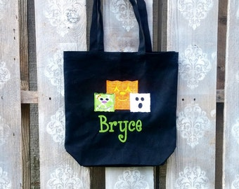 Design Your Own Trick or Treat Bag! Design your Own!!   Candy Bag, Halloween, Trick or Treat Bag, Candy, Personalized