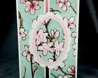 Handmade Cherry Blossoms Card