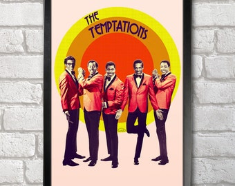 The Temptations Poster Print A3+ 13 x 19 in - 33 x 48 cm Buy 2 Get 1 Free