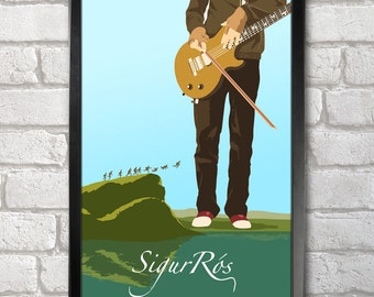 Sigur Ros Poster Print A3+ 13 x 19 in - 33 x 48 cm Buy 2 Get 1 Free