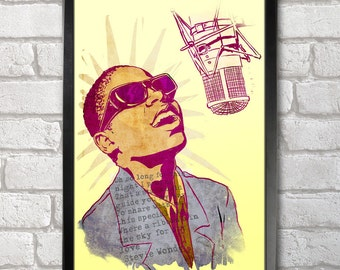 Stevie Wonder Poster Print A3+ 13 x 19 in - 33 x 48 cm Buy 2 Get 1 Free