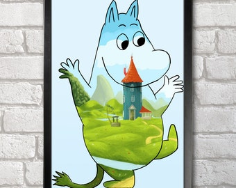 Moominvalley Poster Print A3+ 13 x 19 in - 33 x 48 cm Buy 2 Get 1 Free