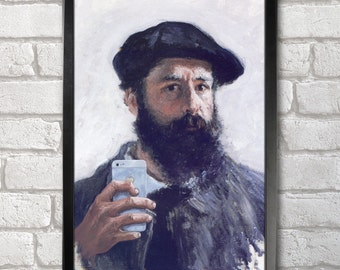 Claude Monet Self-ie-Portrait Poster Print A3+ 13 x 19 in - 33 x 48 cm Buy 2 Get 1 Free