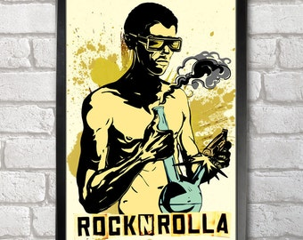 Rock n Rolla Poster Print A3+ 13 x 19 in - 33 x 48 cm Buy 2 Get 1 Free