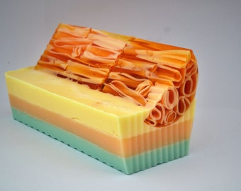 Everyday Satin Citrus Sweet Orange and Lemongrass Essential Oils Handmade Soap Perfect for Sensitive Skins