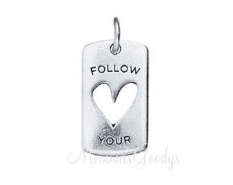 Follow Your Heart Dangle Charm Pendant