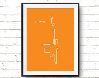 Chicago Marathon Map Art