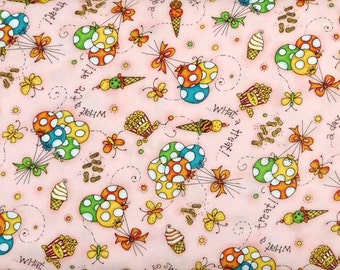 Quilting Treasures - I Love You Zoo - 1649-25627-P - Pink Ice Cream - 1 yard